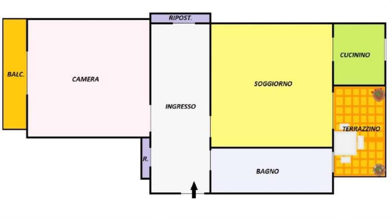 Vendita  bilocale Torino Via Clementi 1 1043646