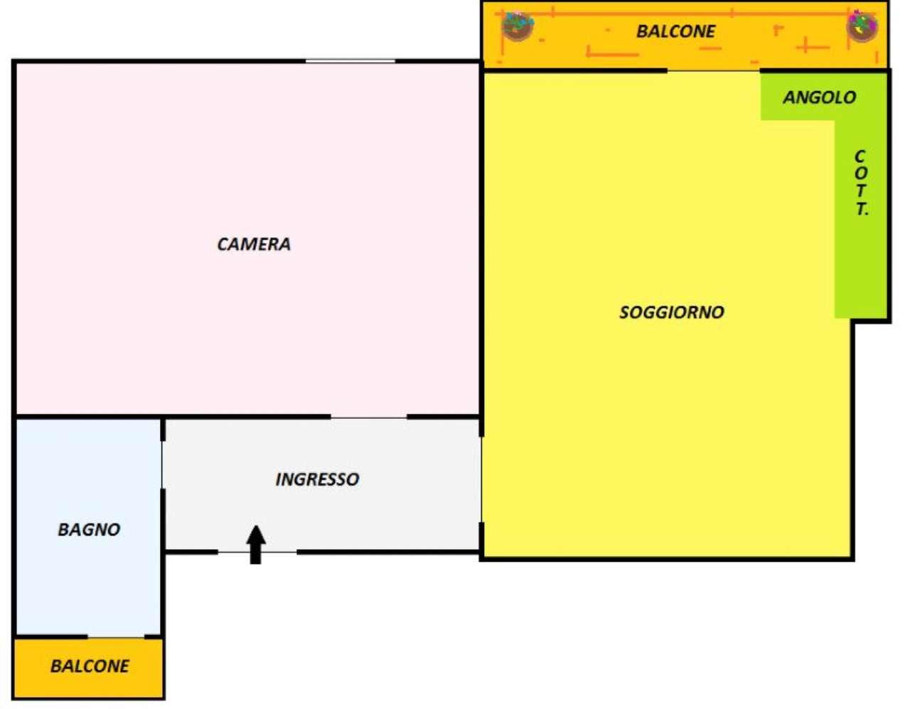 Vendita  bilocale Torino Via Monte Rosa 1 1055631