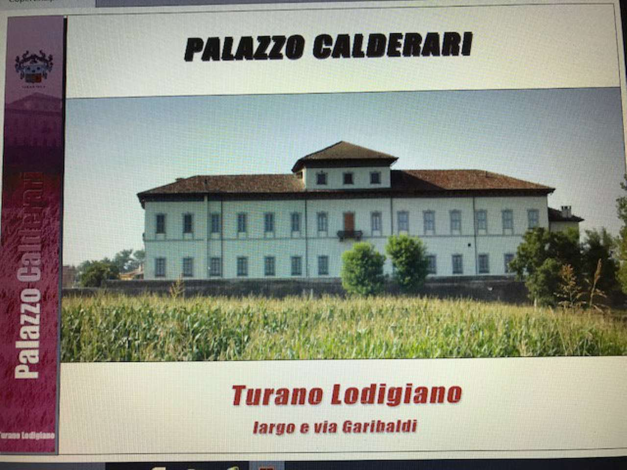 Palazzo-stabile Vendita Turano Lodigiano