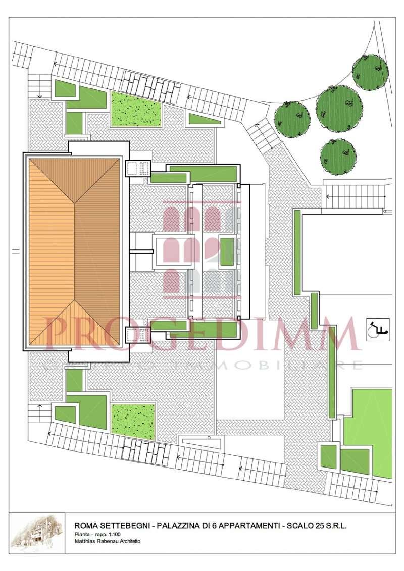 Terratetto - Terracielo in vendita 10 vani 300 mq.  via dello scalo di Settebagni 45 Roma