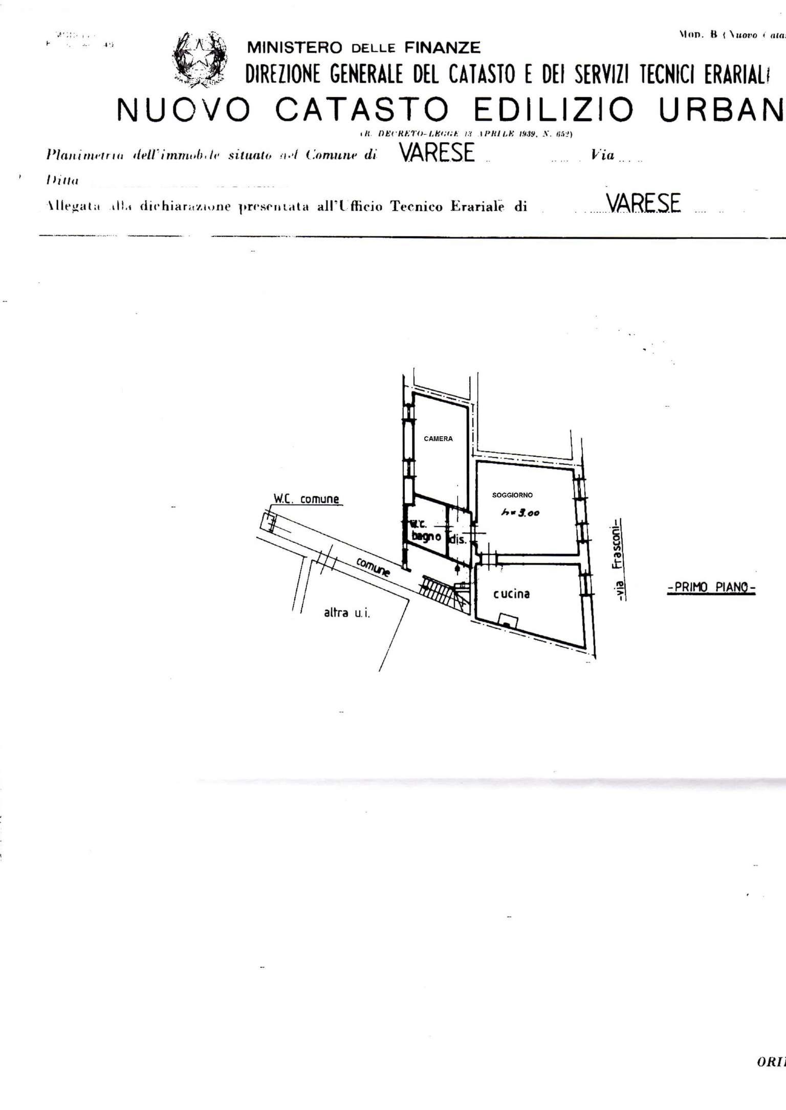 Vendita  bilocale Varese Via Frasconi 1 870584