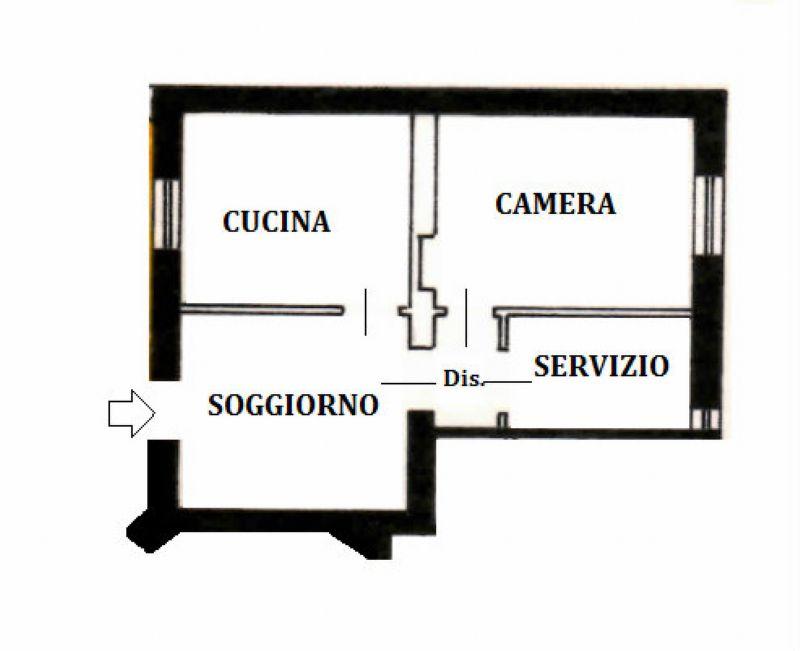 Vendita  bilocale Monza Via Giusti 1 937662