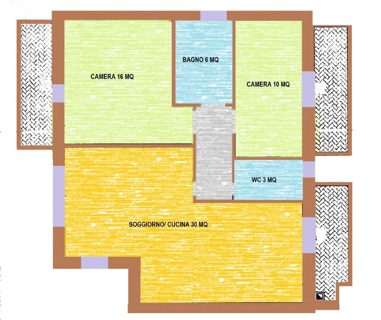 Appartamento in affitto a Loria, 3 locali, prezzo € 480 | Cambio Casa.it
