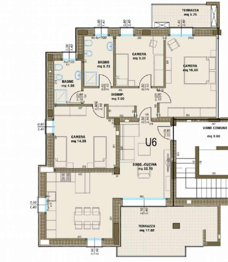 Appartamento in vendita a Castelfranco Veneto, 6 locali, prezzo € 213.000 | Cambio Casa.it