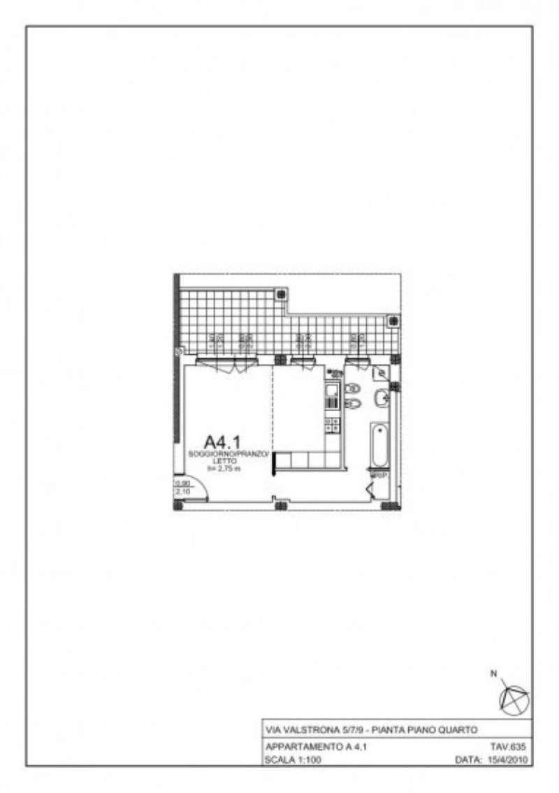 Vendita  bilocale Milano Via Gressoney 1 1081450