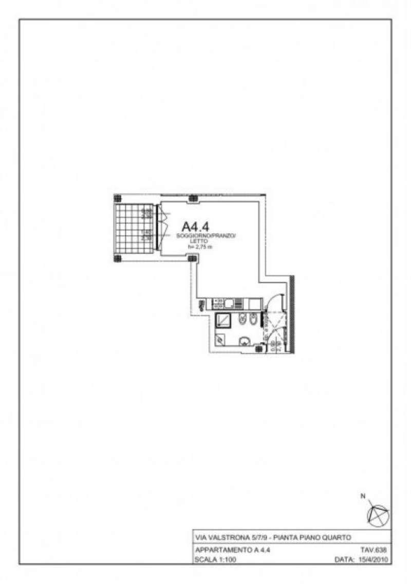 Vendita  bilocale Milano Via Gressoney 1 1082201