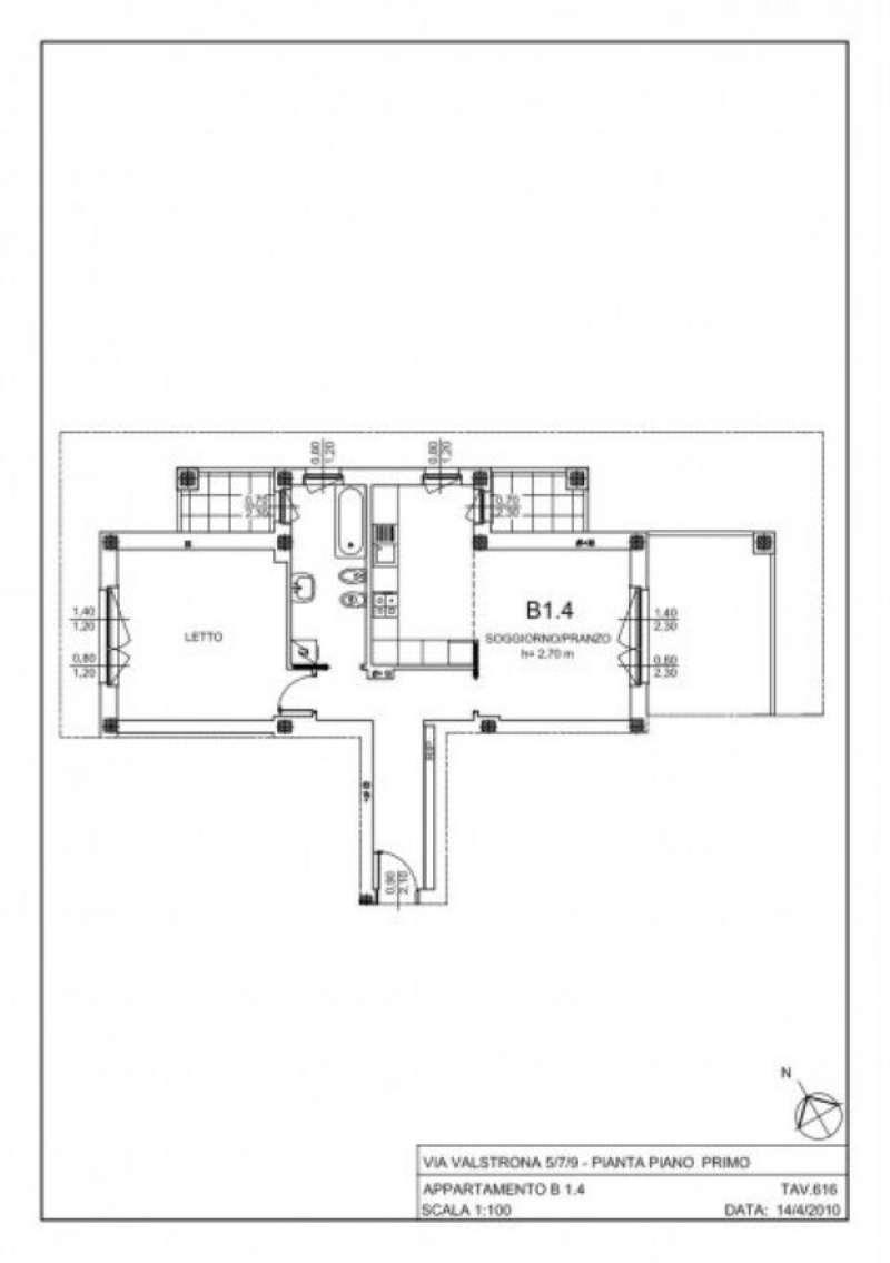 Vendita  bilocale Milano Via Gressoney 1 1084036