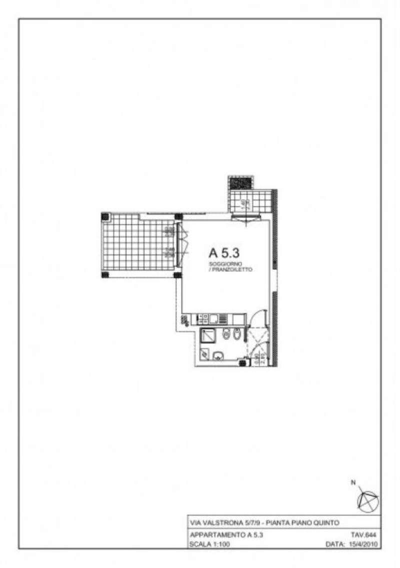 Vendita  bilocale Milano Via Gressoney 1 1087338