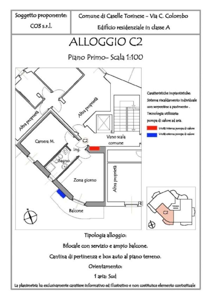 Appartamento in vendita a Caselle Torinese, 2 locali, prezzo € 109.000 | Cambio Casa.it