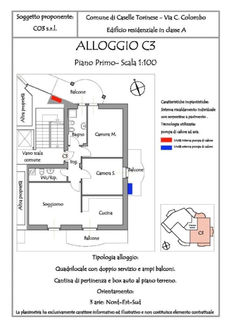 Appartamento in vendita a Caselle Torinese, 4 locali, prezzo € 190.000 | Cambio Casa.it