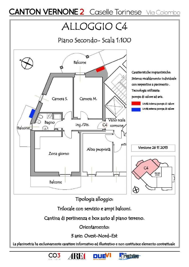 Appartamento in vendita a Caselle Torinese, 3 locali, prezzo € 165.000 | Cambio Casa.it