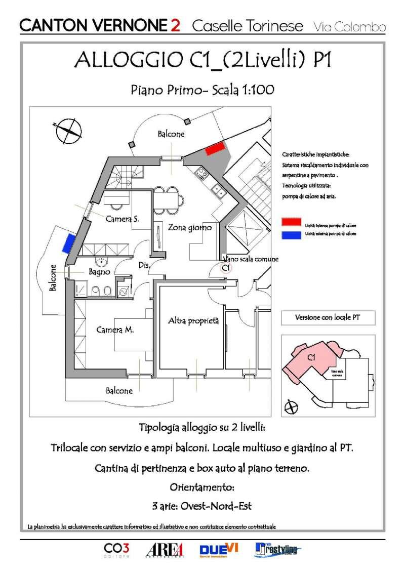 Appartamento in vendita a Caselle Torinese, 3 locali, prezzo € 205.000 | Cambio Casa.it