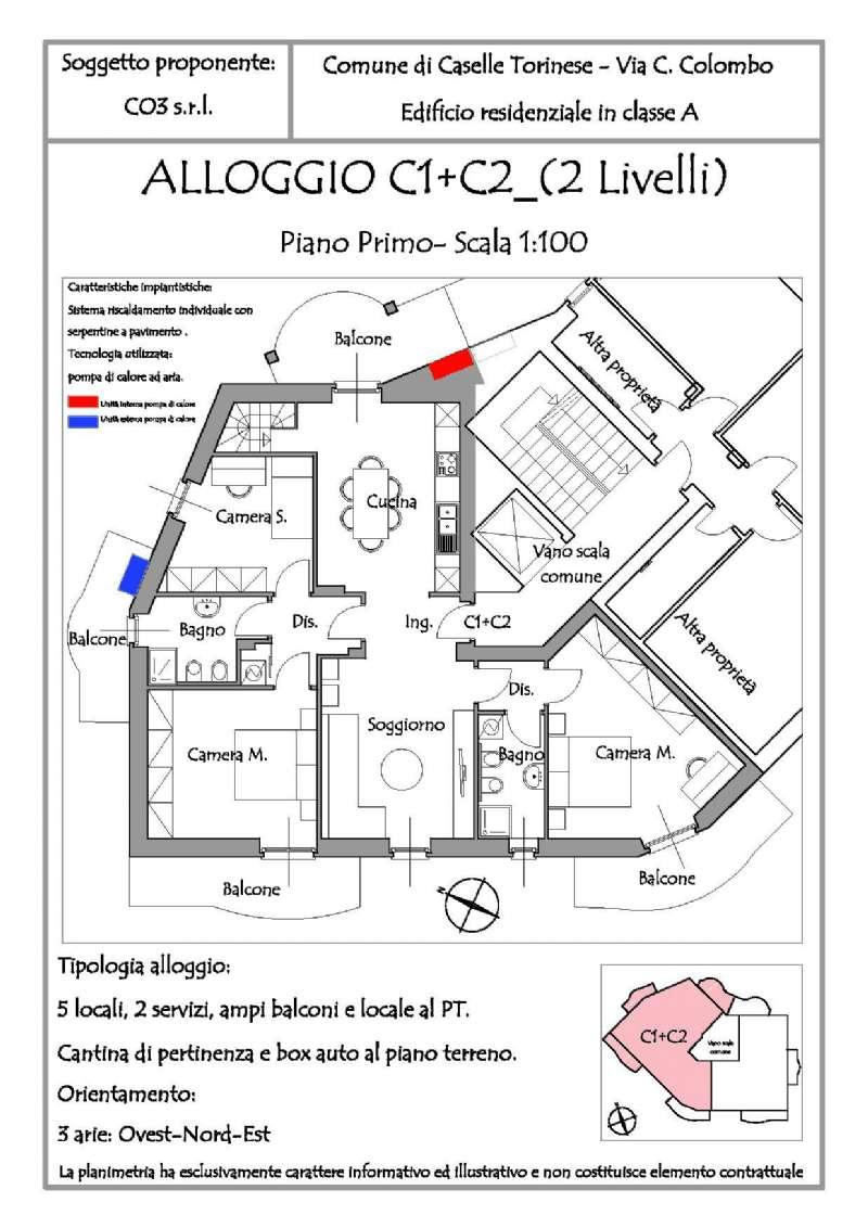 Appartamento in vendita a Caselle Torinese, 6 locali, prezzo € 299.000 | Cambio Casa.it