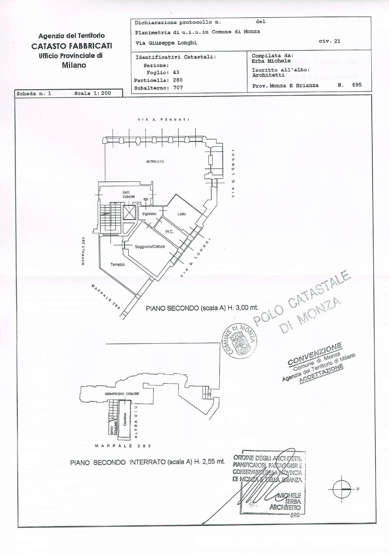 Affitto  bilocale Monza Via Longhi 1 946227