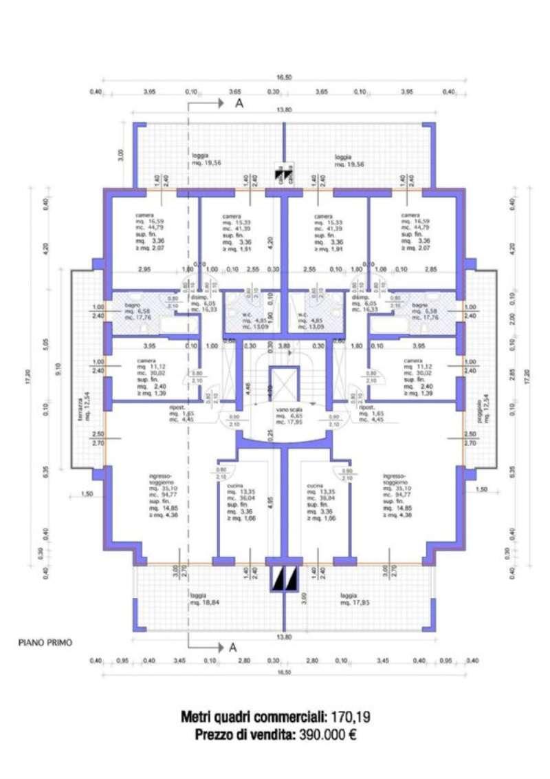 Quadrilocale padova vendita zona 3 est brenta for Ulteriori planimetrie