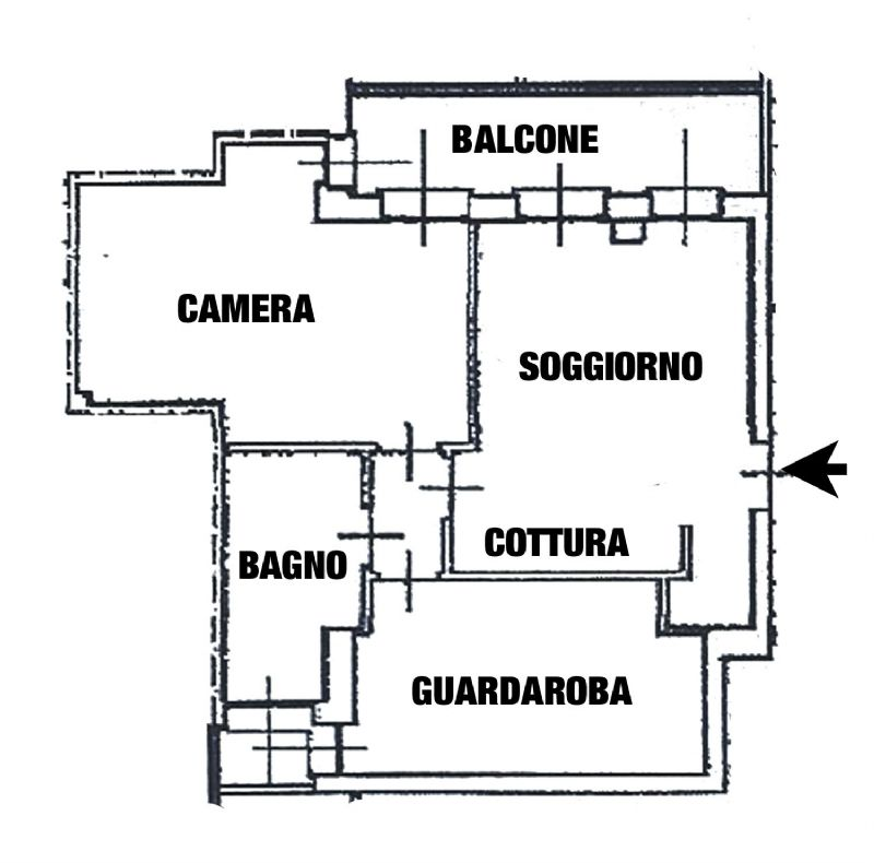 Vendita  bilocale Meda Via C. Battisti 1 962420