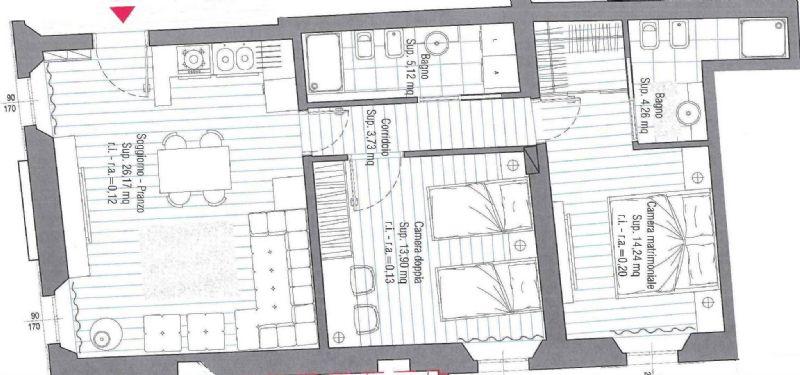 Appartamento in vendita a Cesena, 3 locali, prezzo € 230.000 | Cambio Casa.it