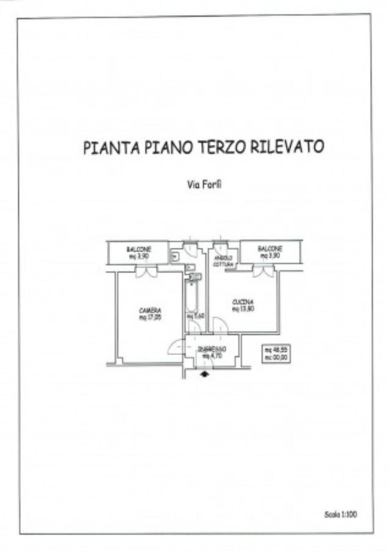 Bilocale Torino Via Forlì 1