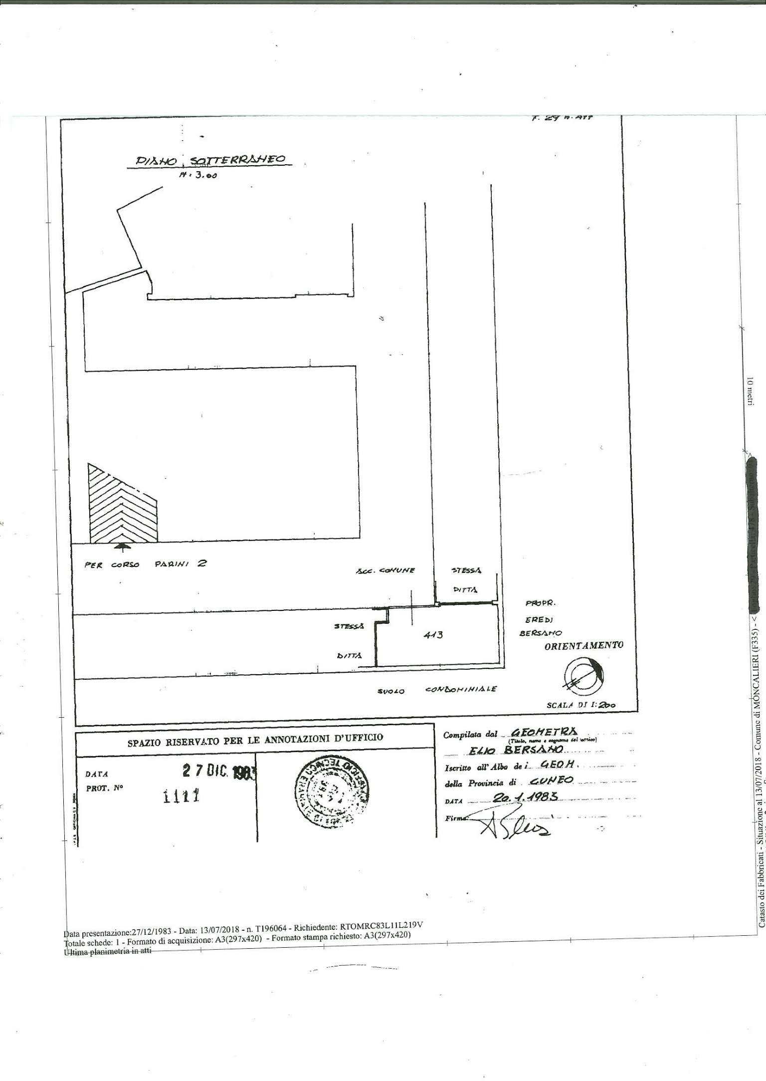 Foto 1 di Box / Garage via Giordano Bruno  4, Moncalieri