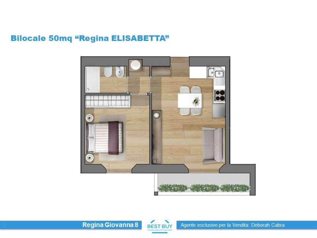 Appartamento in vendita 2 vani 45 mq.  viale Regina Giovanna 8 Milano