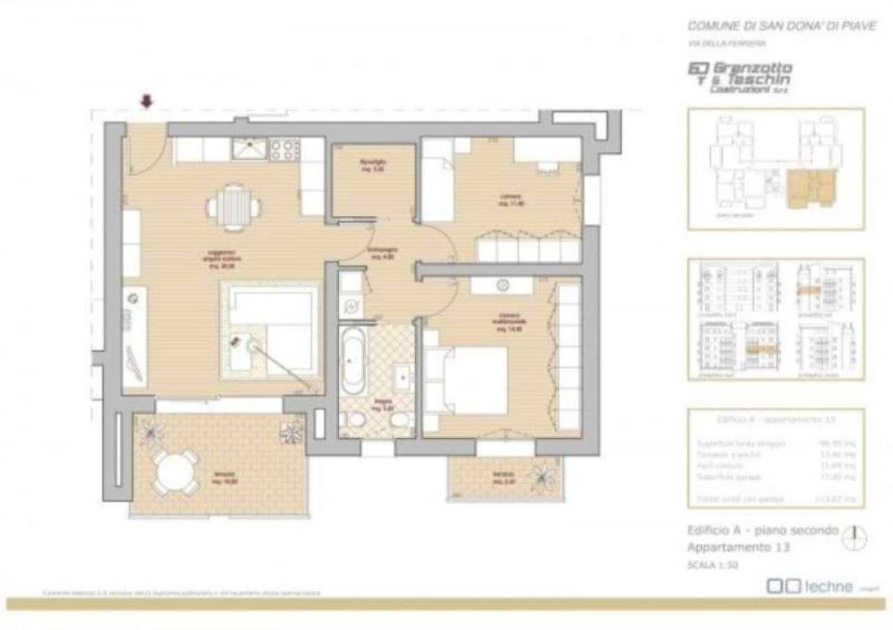 Appartamento in vendita a San Donà di Piave, 3 locali, prezzo € 184.000 | Cambio Casa.it