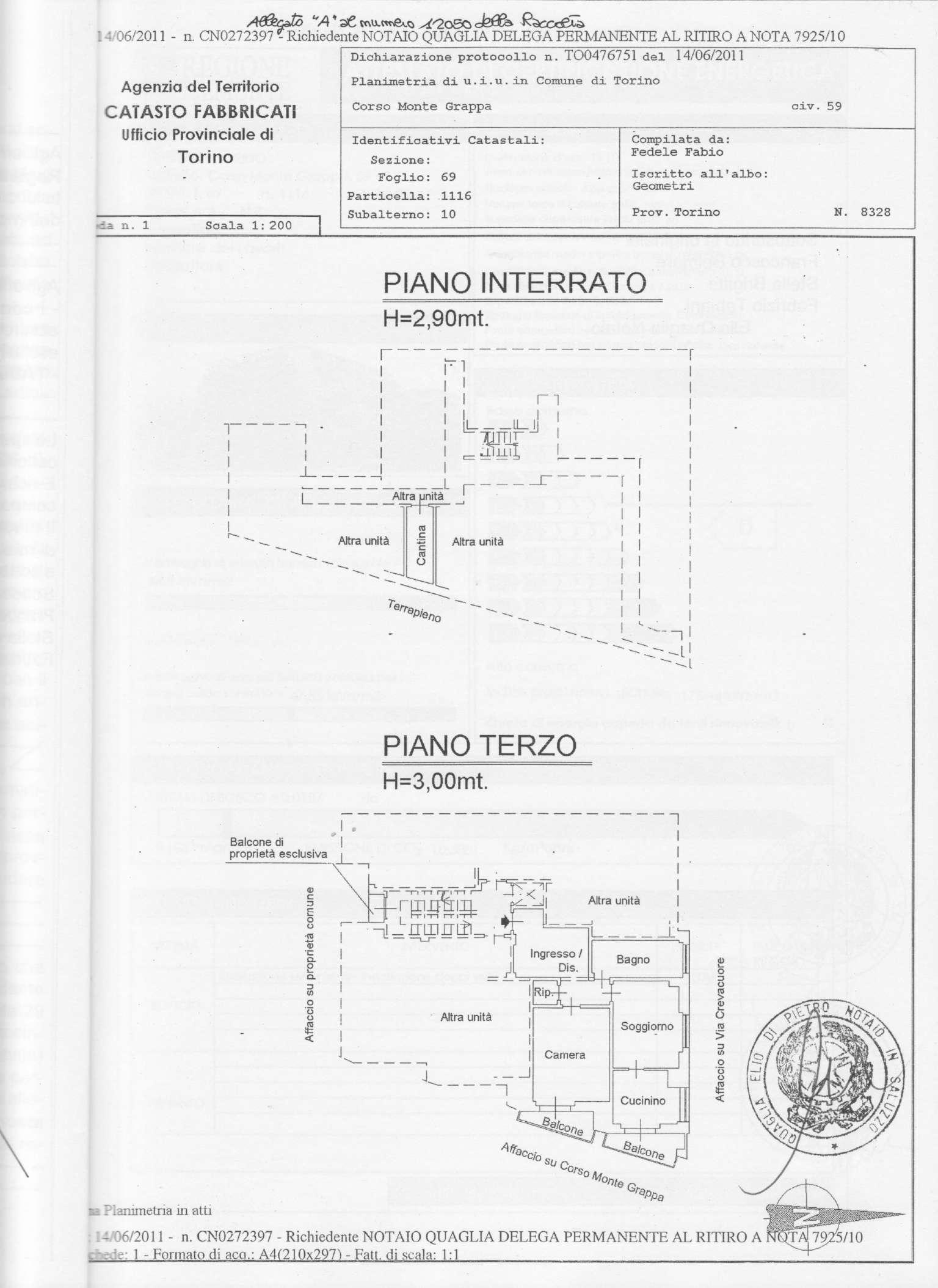 Bilocale Torino Corso Montegrappa 6