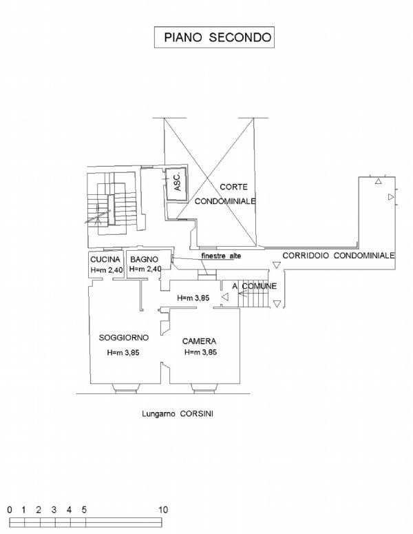 Affitto  bilocale Firenze Lungofiume Lungarno Acciaiuoli 1 1015938