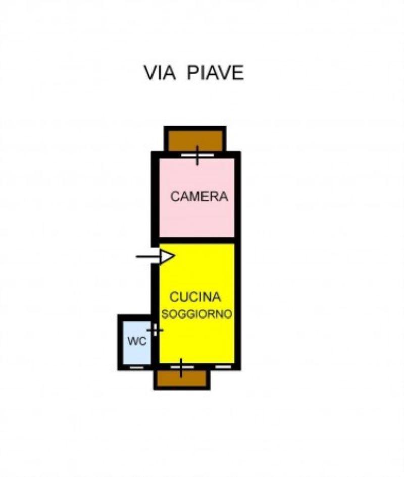 Vendita  bilocale Palermo Via Piave 1 1063577