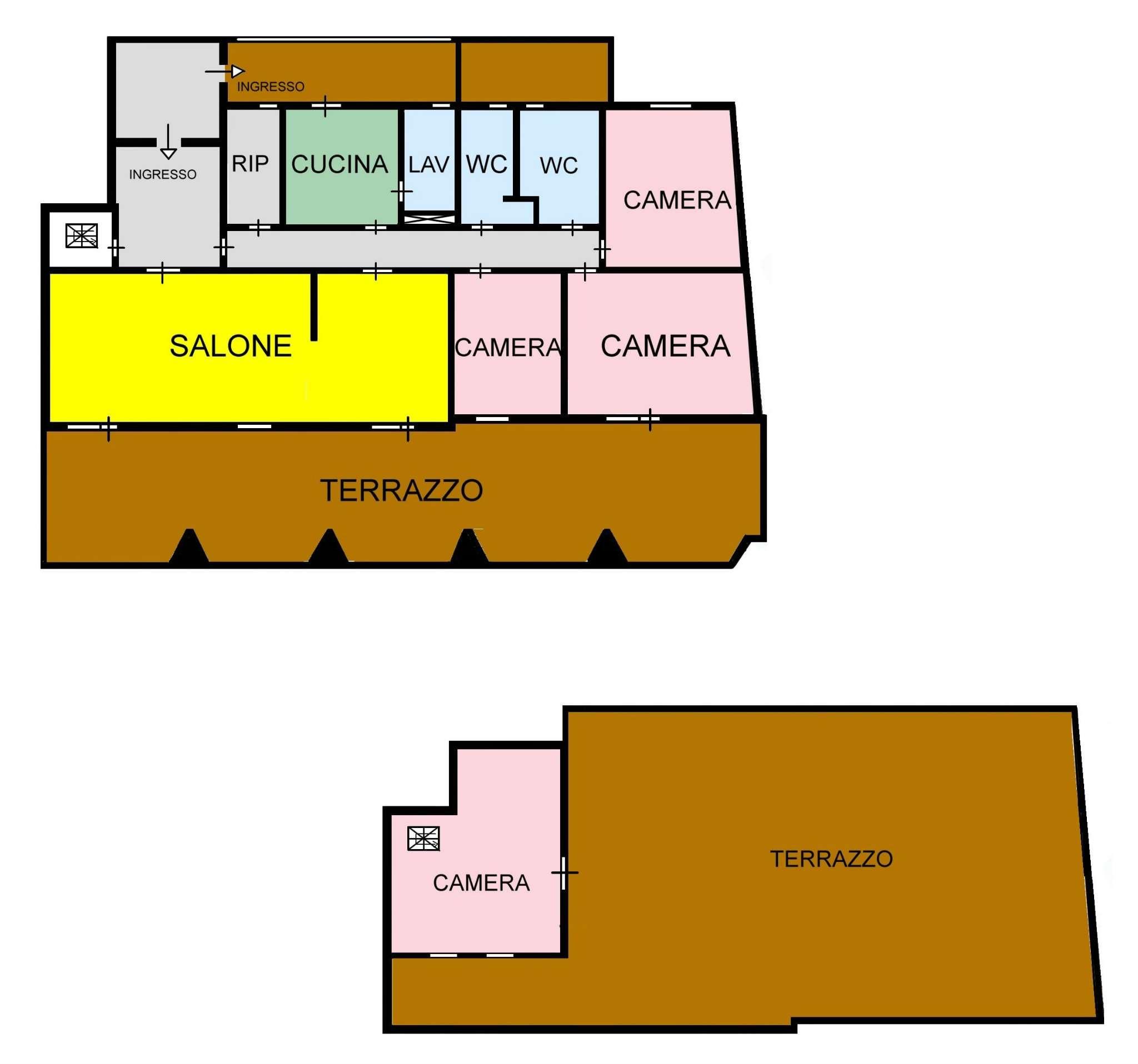 Attico in Affitto a Palermo: 5 locali, 200 mq