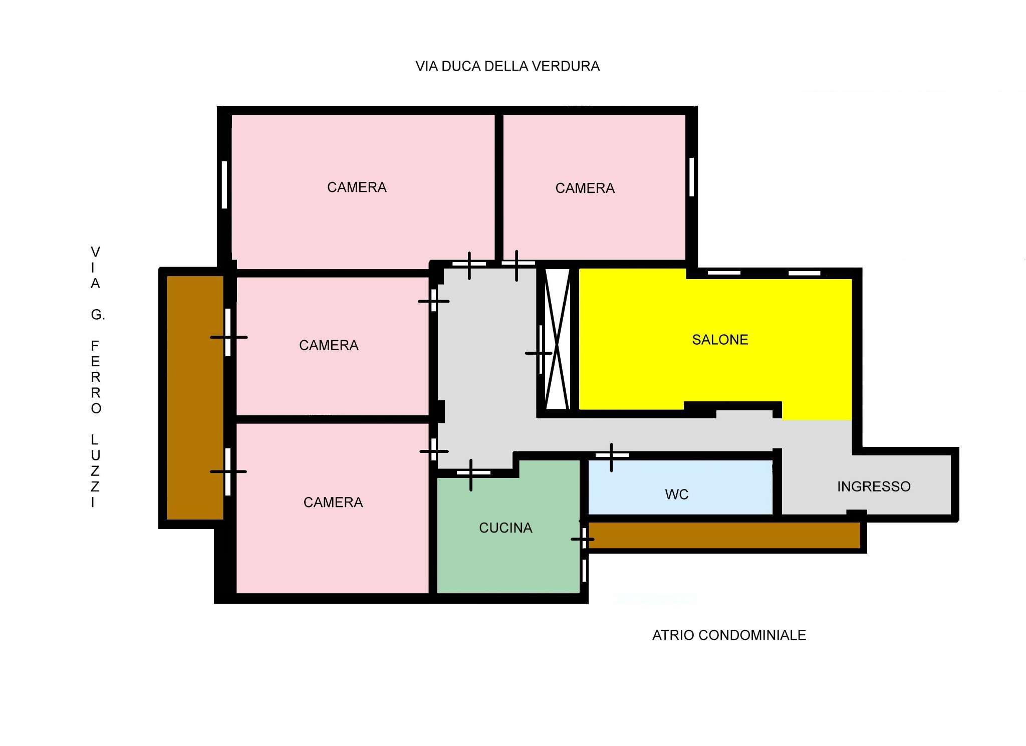 Appartamento in Vendita a Palermo: 5 locali, 130 mq