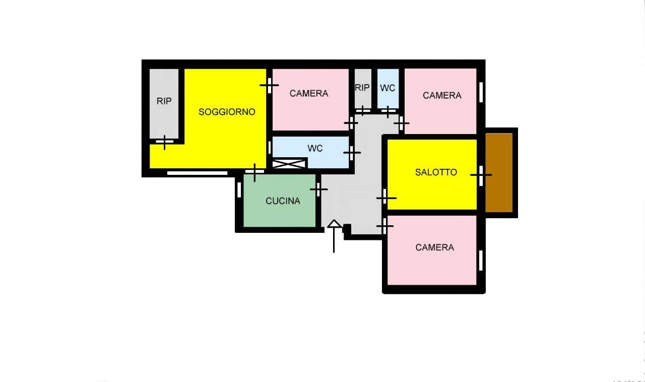 Appartamento in Affitto a Palermo: 5 locali, 117 mq