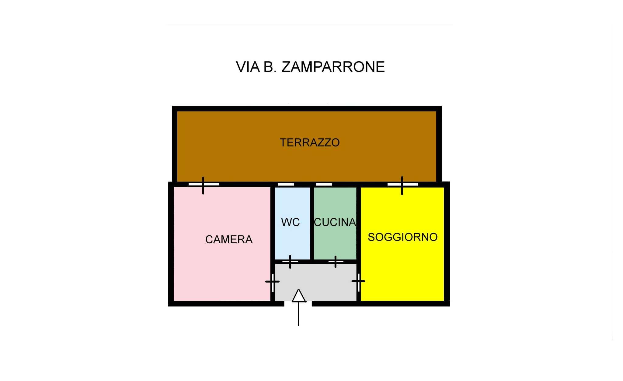 Appartamento in Affitto a Palermo: 50 mq