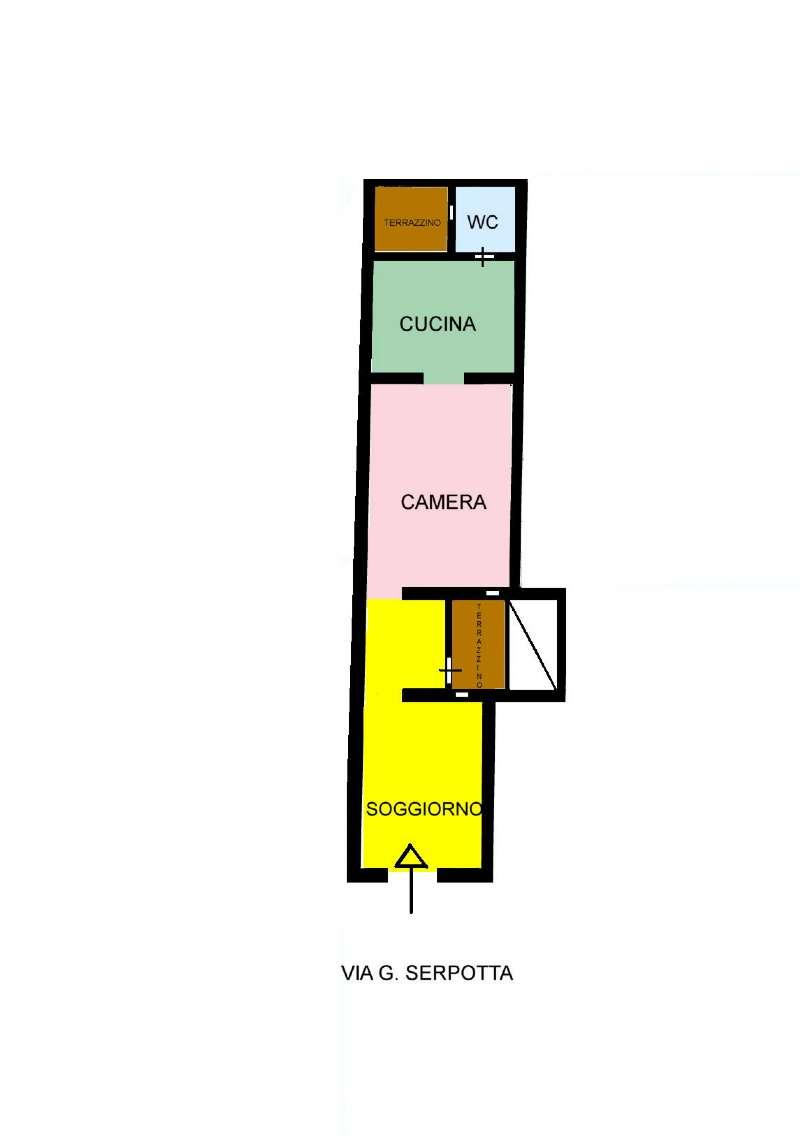 Appartamento in Vendita a Palermo: 2 locali, 50 mq