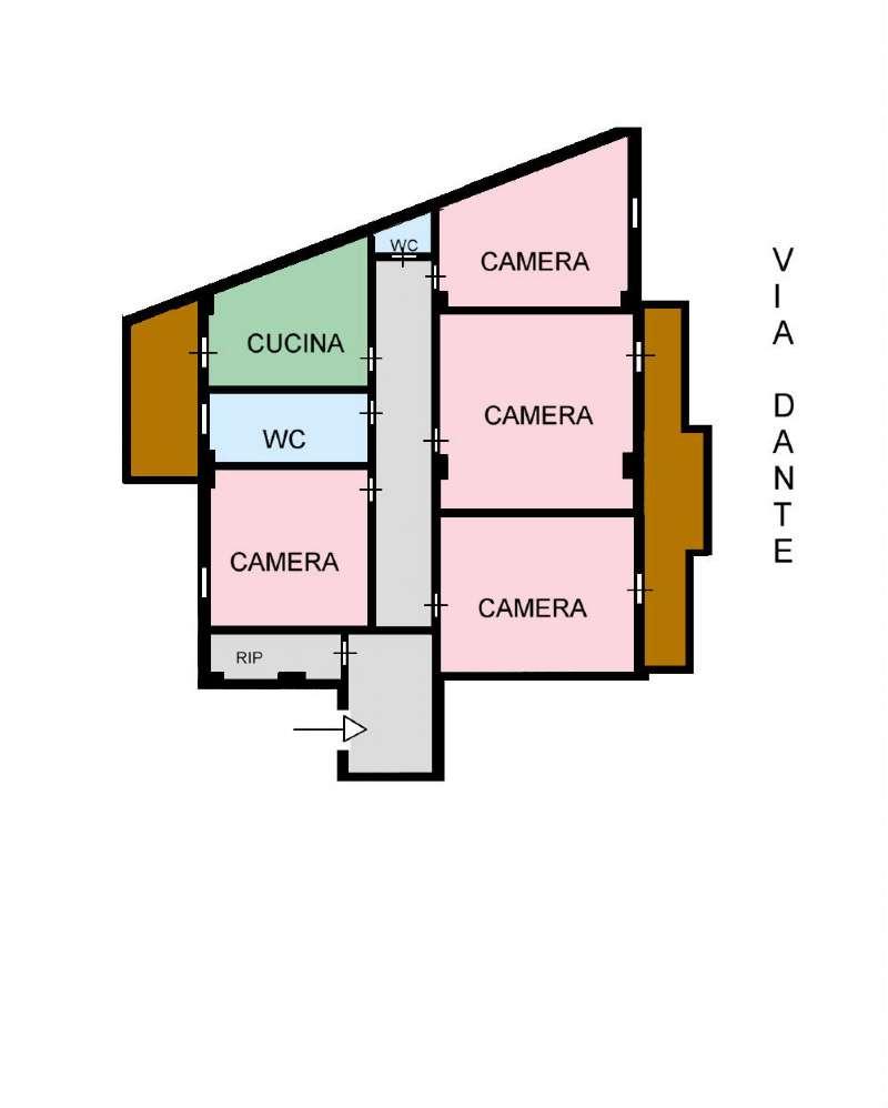Appartamento in Affitto a Palermo: 4 locali, 110 mq