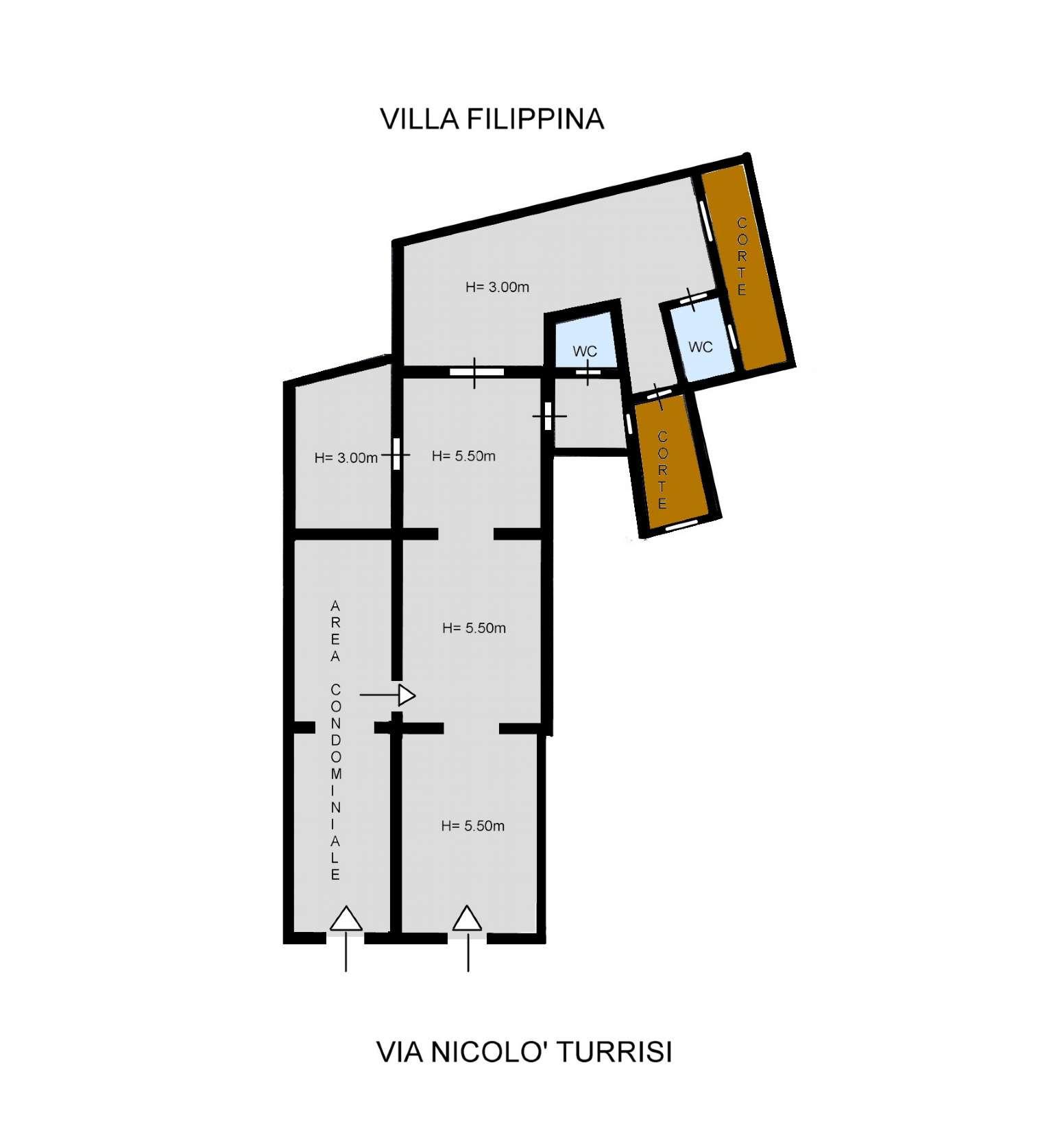Negozio-locale in Affitto a Palermo: 5 locali, 98 mq