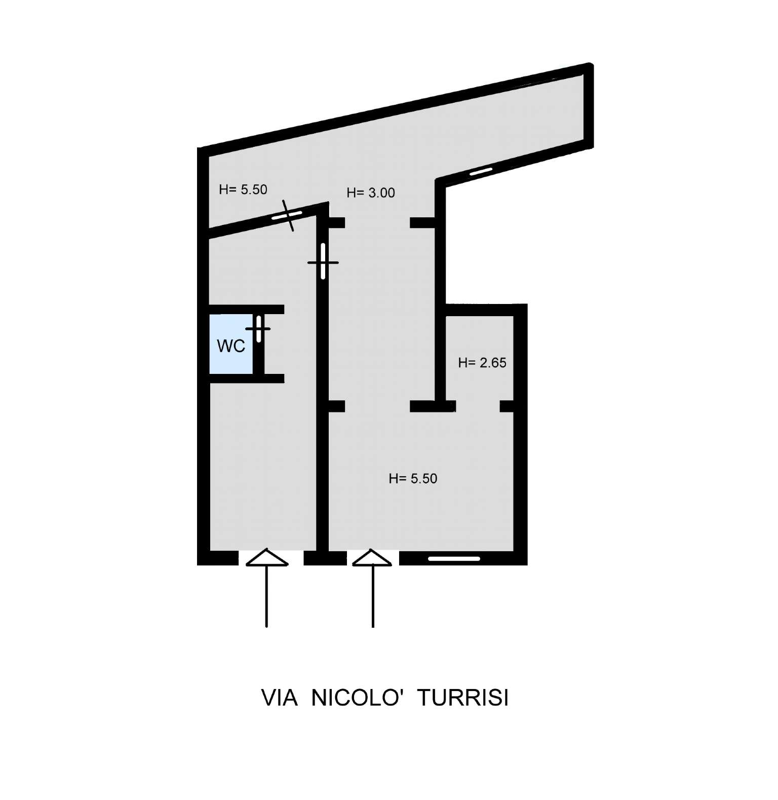 Magazzino in Vendita a Palermo: 5 locali, 173 mq