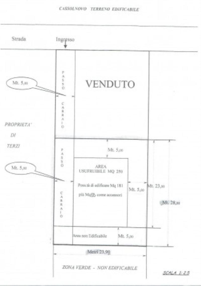 Terreno Edificabile Residenziale in Vendita a Cassolnovo