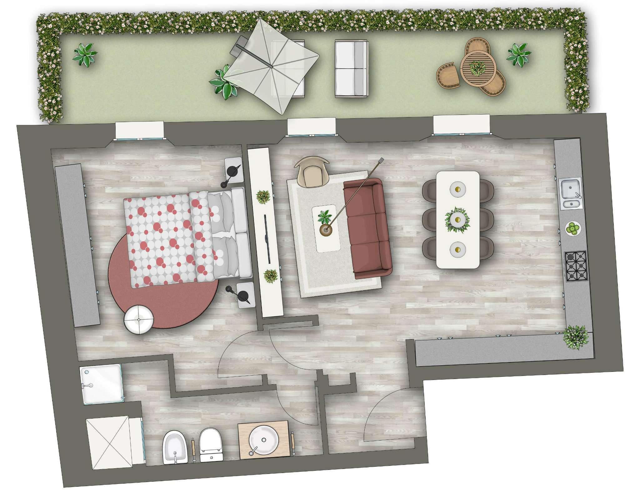 Appartamento in vendita 3 vani 67 mq.  via Santa Bologna