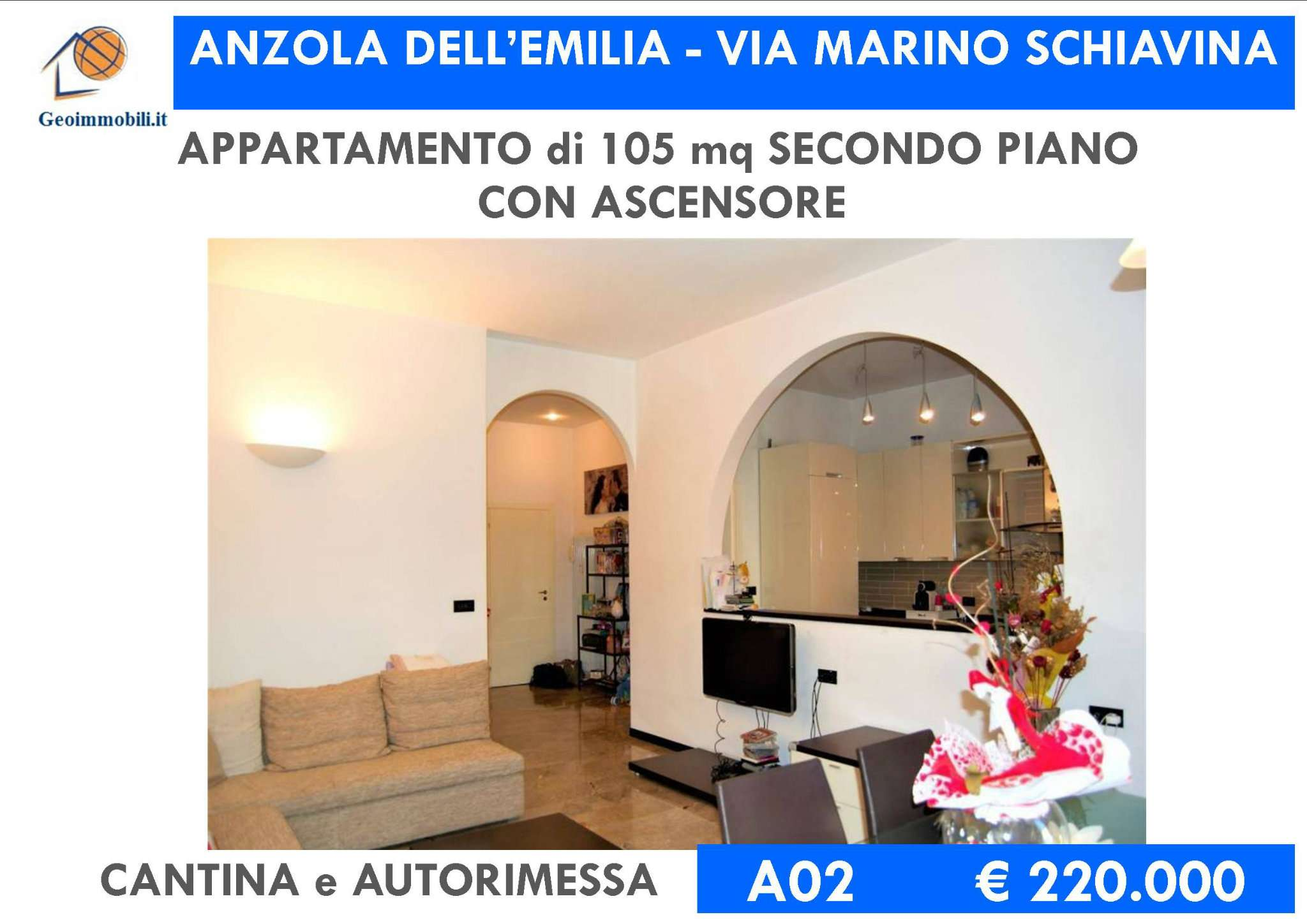 Foto 1 di Quadrilocale via Marino Schiavina, Anzola Dell'emilia
