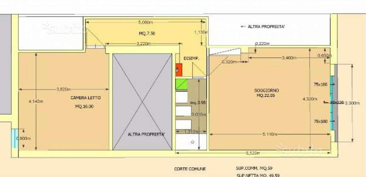 Appartamento in vendita a Cesena, 3 locali, prezzo € 85.000 | CambioCasa.it