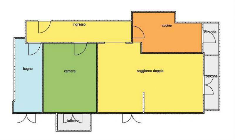 Vendita  bilocale Milano Via Pietro Da Cemmo 1 1 839811