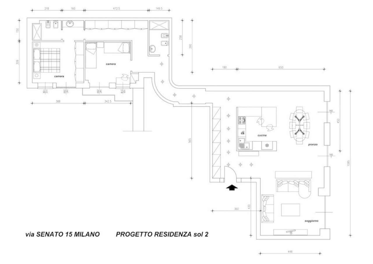 Appartamento in Vendita a Milano 01 Centro storico (Cerchia dei Navigli): 4 locali, 150 mq