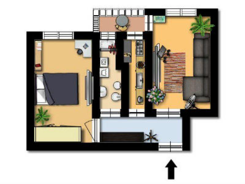Vendita  bilocale Cinisello Balsamo Via C. Villa 1 412775