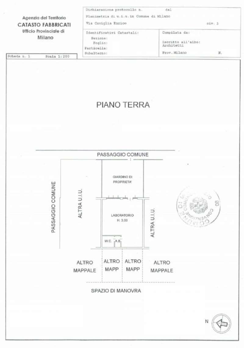 Milano Vendita LABORATORIO Immagine 1