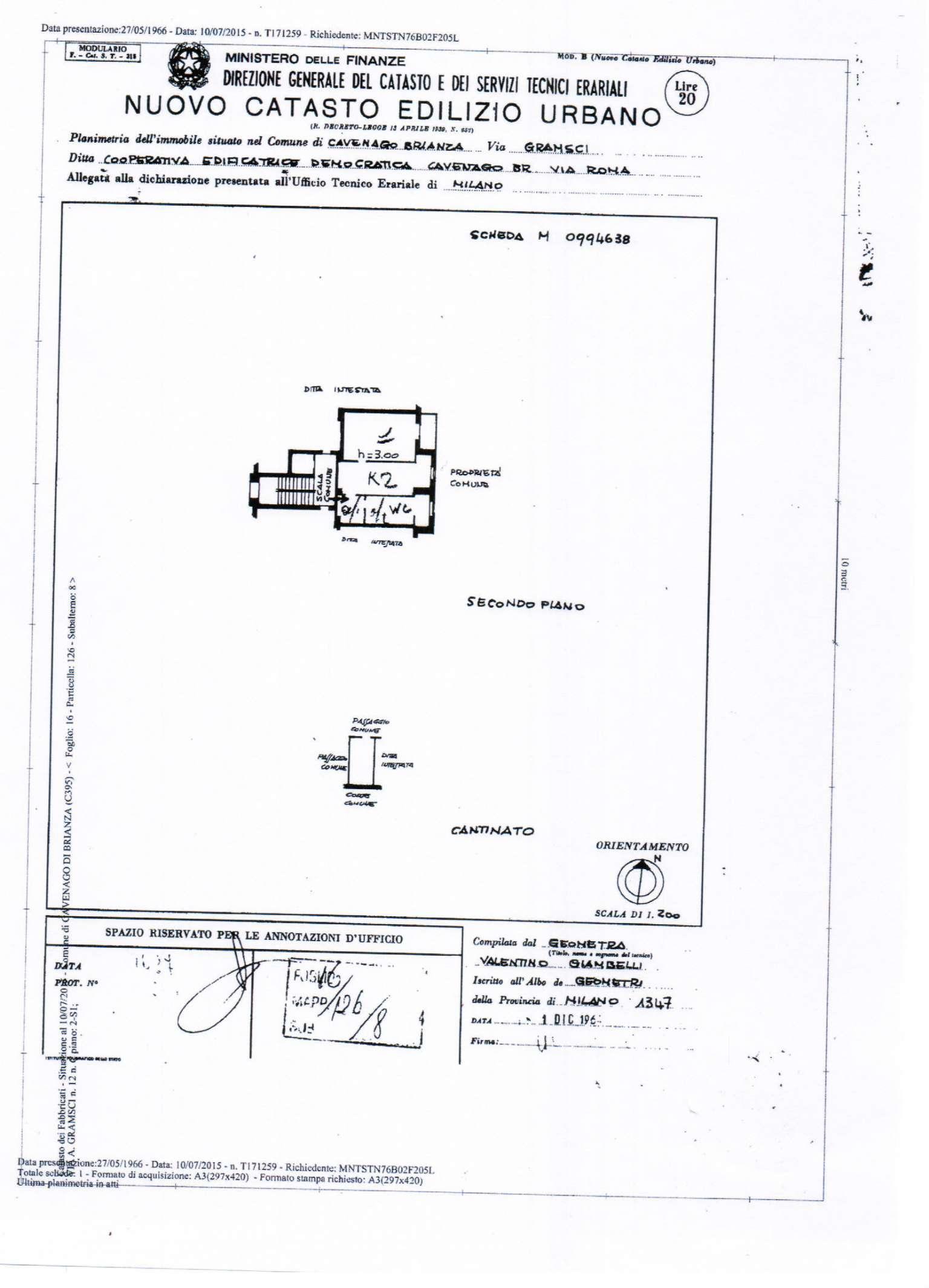 Vendita  bilocale Cavenago di Brianza Via Gramsci 1 870117