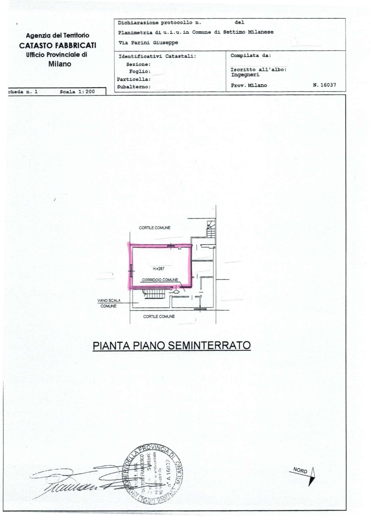 Magazzino in vendita a Settimo Milanese, 1 locali, prezzo € 13.000 | CambioCasa.it