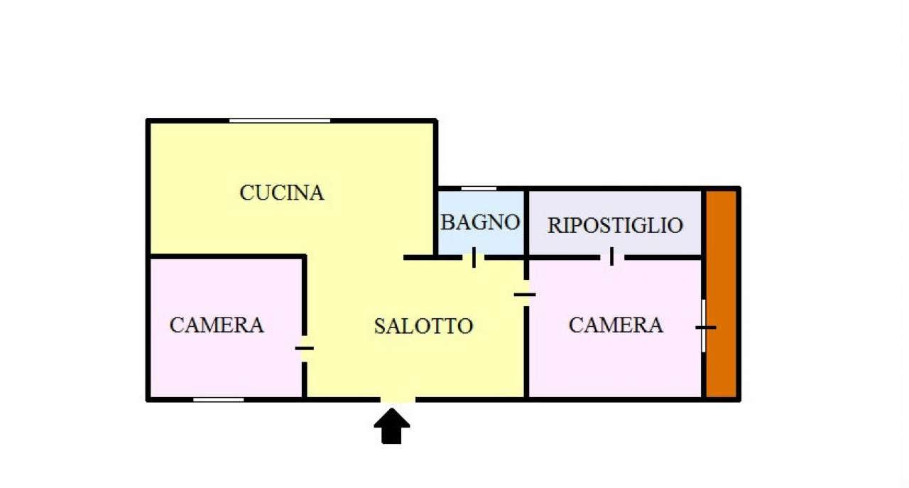 Appartamento in buone condizioni in affitto Rif. 4903104