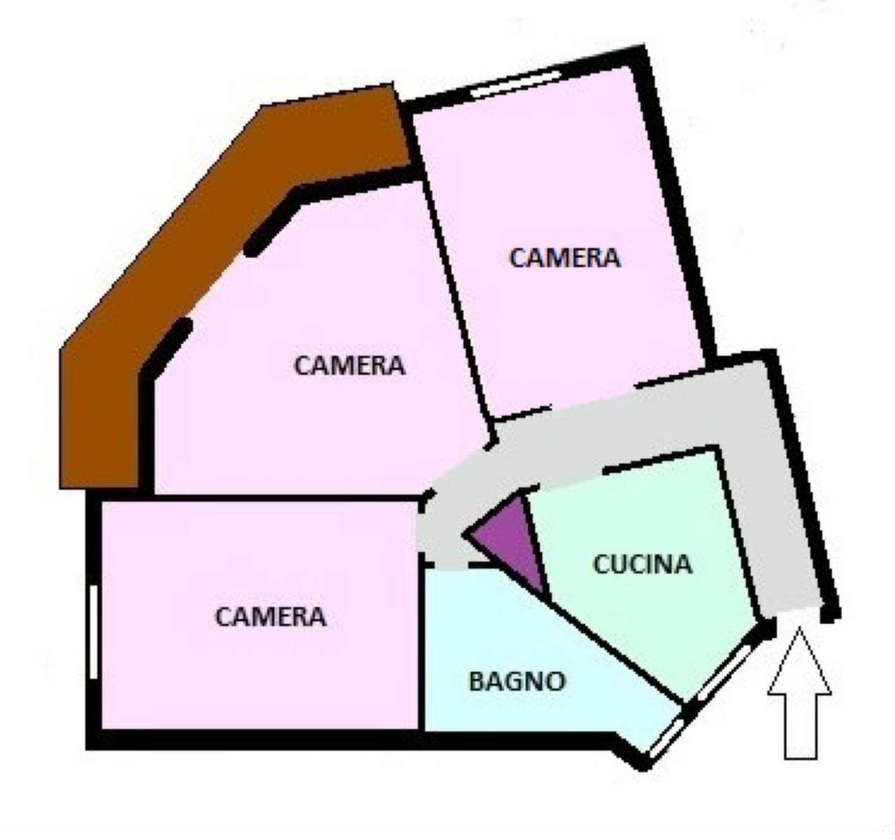 Appartamento da ristrutturare in affitto Rif. 8480503