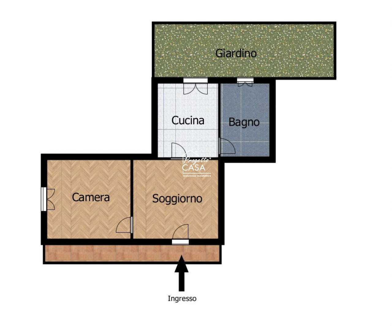 Appartamento in vendita a San Giorgio a Cremano, 2 locali, prezzo € 68.000 | PortaleAgenzieImmobiliari.it