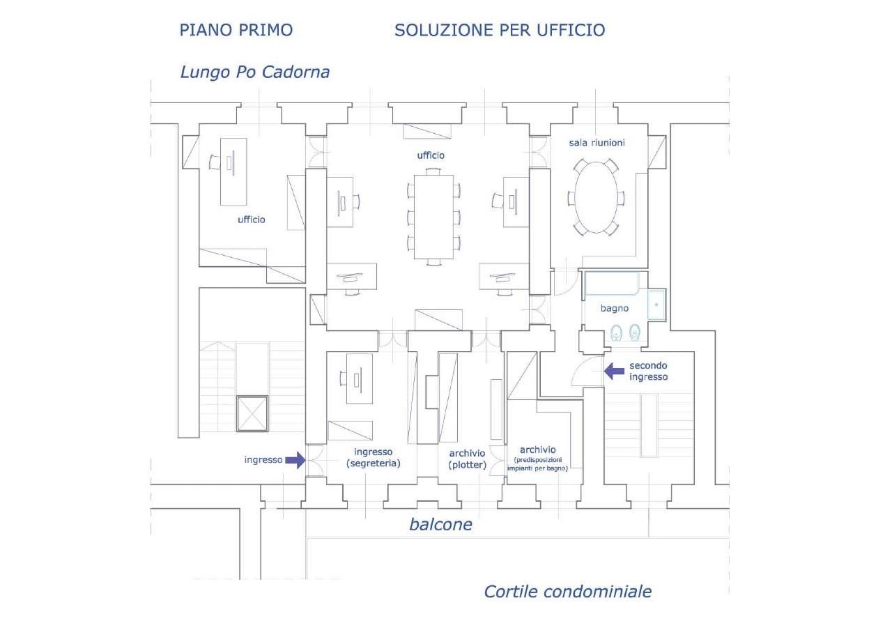 Ufficio / Studio in vendita a Torino, 4 locali, zona Centro, Quadrilatero Romano, Repubblica, Giardini Reali, prezzo € 450.000 | PortaleAgenzieImmobiliari.it